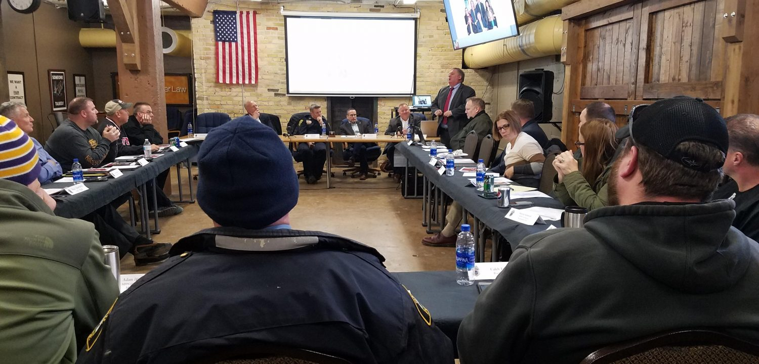 Ron Meuser Presented at the Minnesota Police and Peace Officers Association Union Presidents Meeting