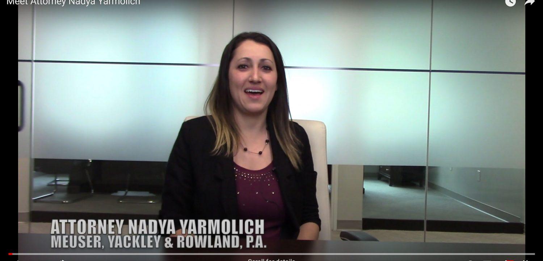 Introducing Attorney Nadya Yarmolich